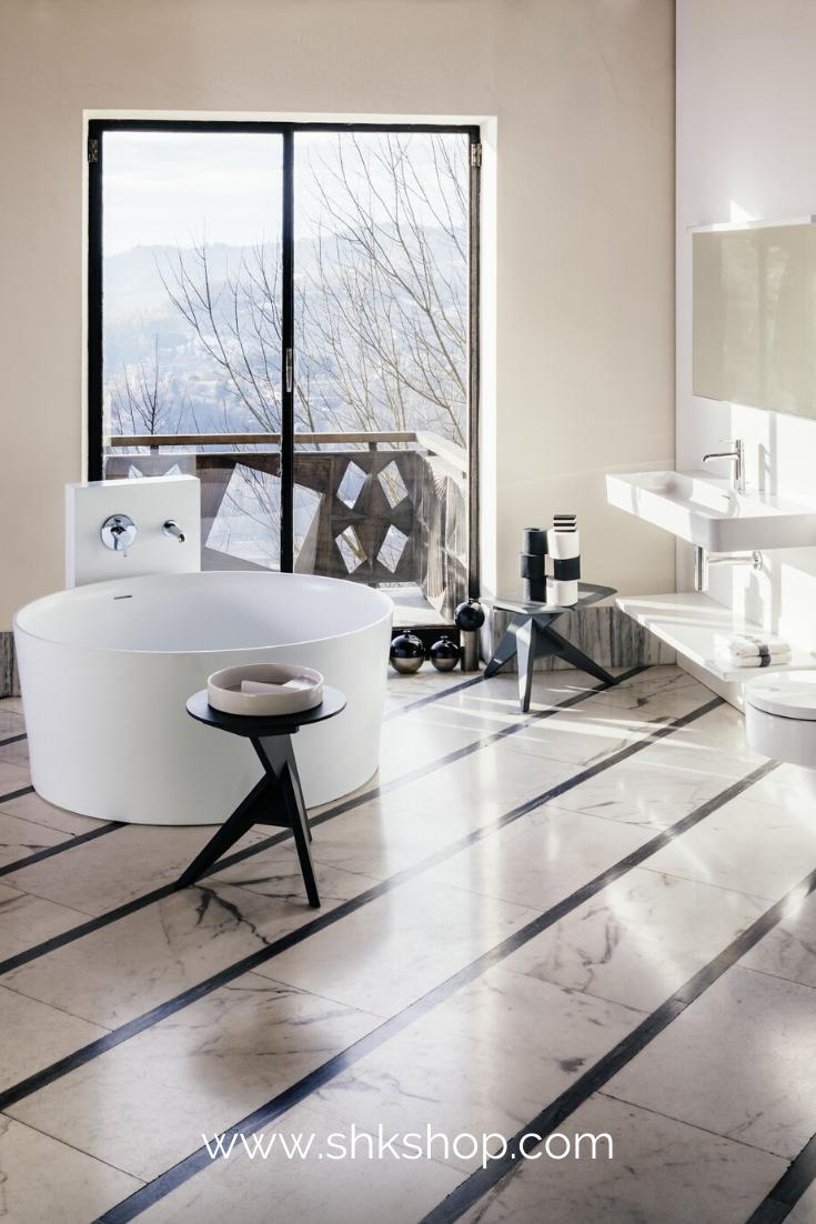 Laufen Val Badewanne 1300x1300x505 Freistehend Rund Integrierter Berlaufkanal In 2020 Kleines Bad Renovierungen Badewanne Und Kleine Badezimmer Inspiration