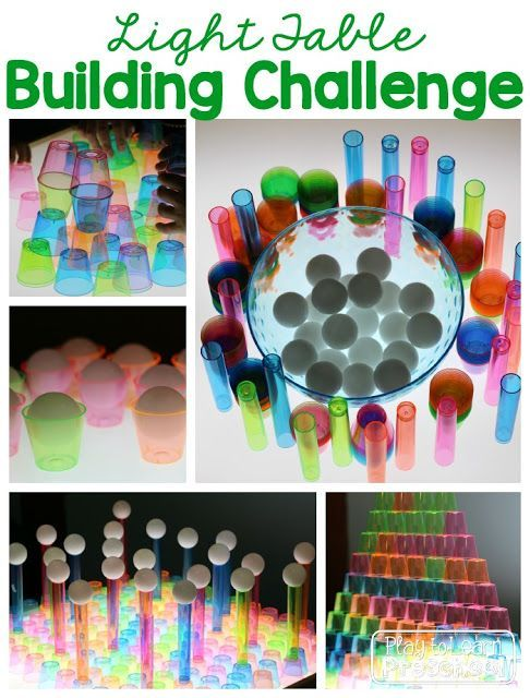 Light Table Building Challenge by Play to Learn Preschool