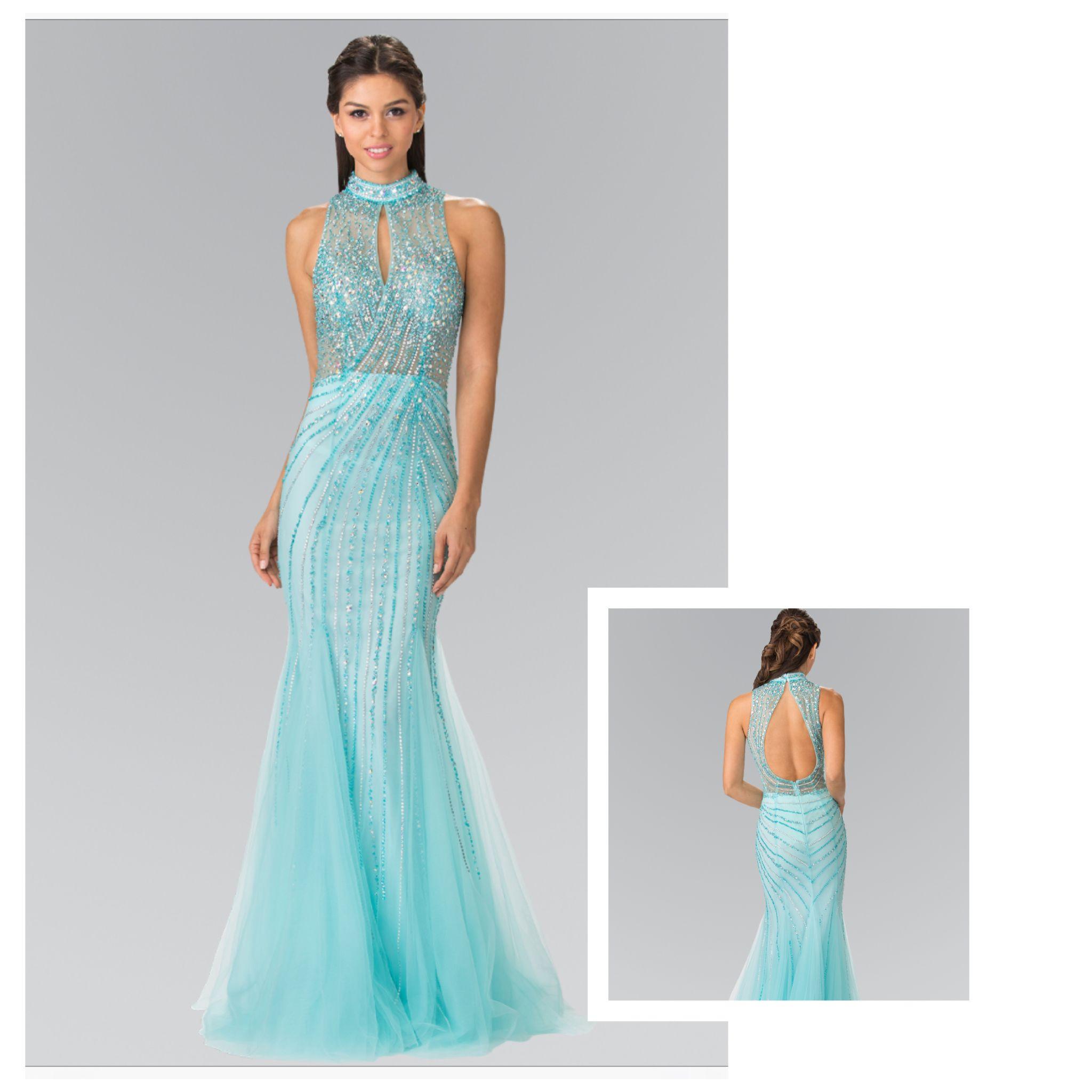 92c9f596 Ladies are meant to SpaRKle!! ✨ Aqua Glitter Prom Dress | Prom 2017 ...