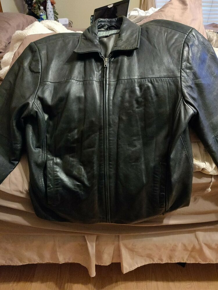 Black Leather Jacket Xl Used Real Soft Leather Fashion Clothing Shoes Accessories Menscloth Leather Jacket Lambskin Leather Blazer Lambskin Leather Jacket