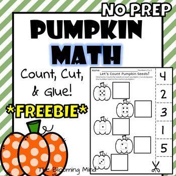 Pumpkin Math Worksheet | Pumpkins | Pinterest | Number ...