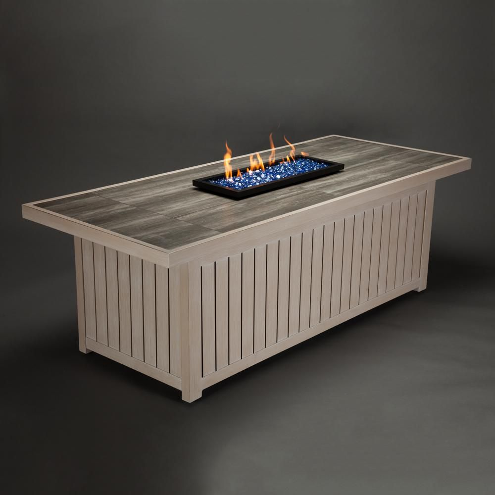 Agio Lake House Rectangular Gas Fire Pit