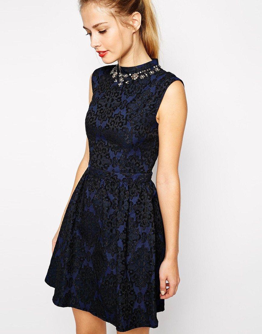 Oasis Embellished Jacquard Lantern Dress | My Style | Pinterest