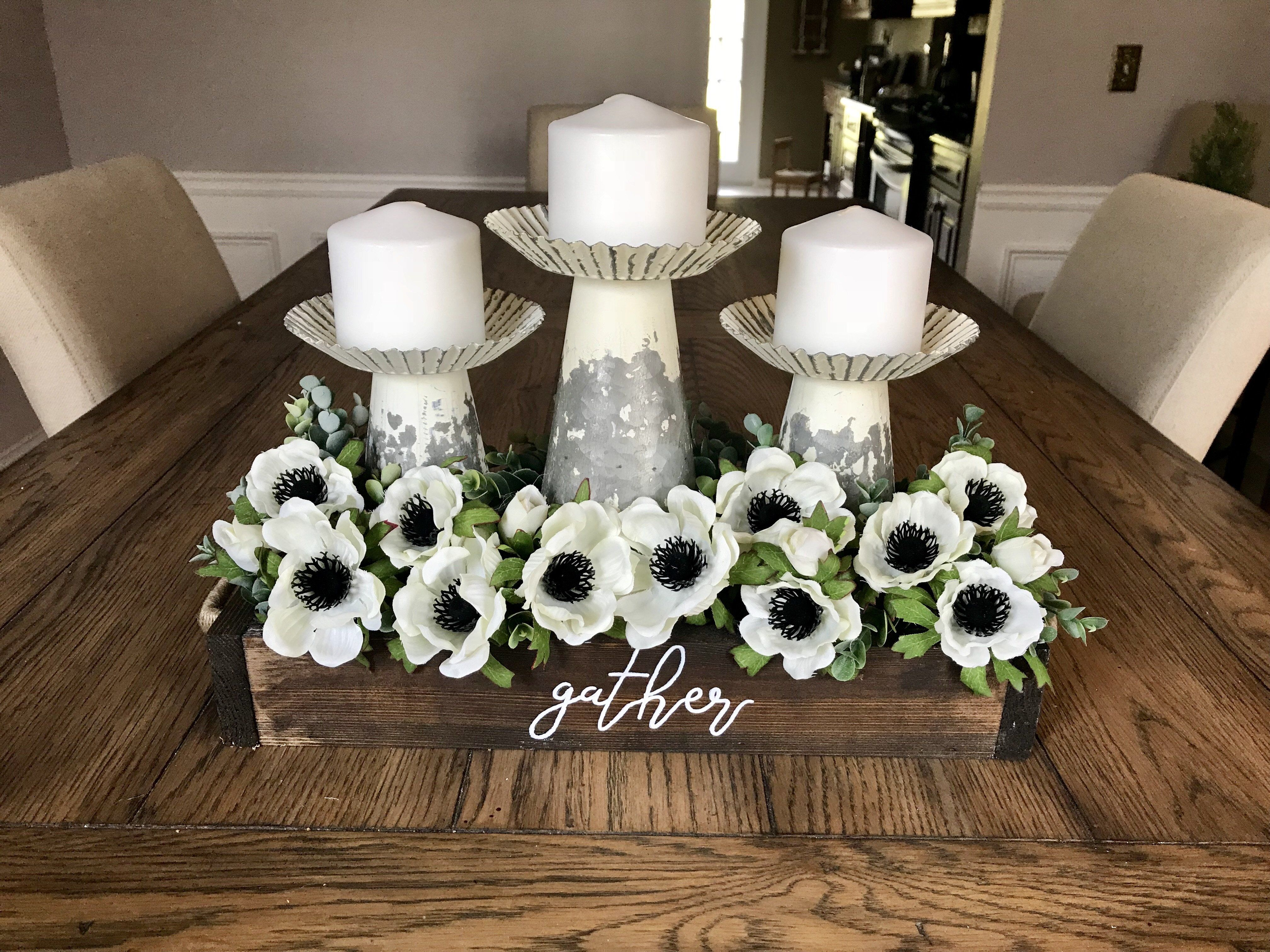 Dining Room Centerpiece With Candles Dining Room Table Centerpieces Rustic Farmhouse Dining Table Dinning Room Centerpieces