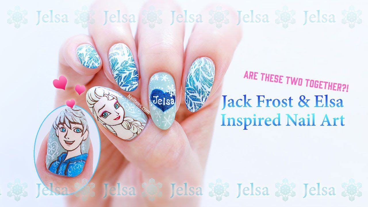 ☆ Jack Frost and Elsa Inspired Nail Art ☆ | Nailart | Pinterest ...