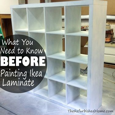 what you need to know before you paint ikea laminate! | craft room