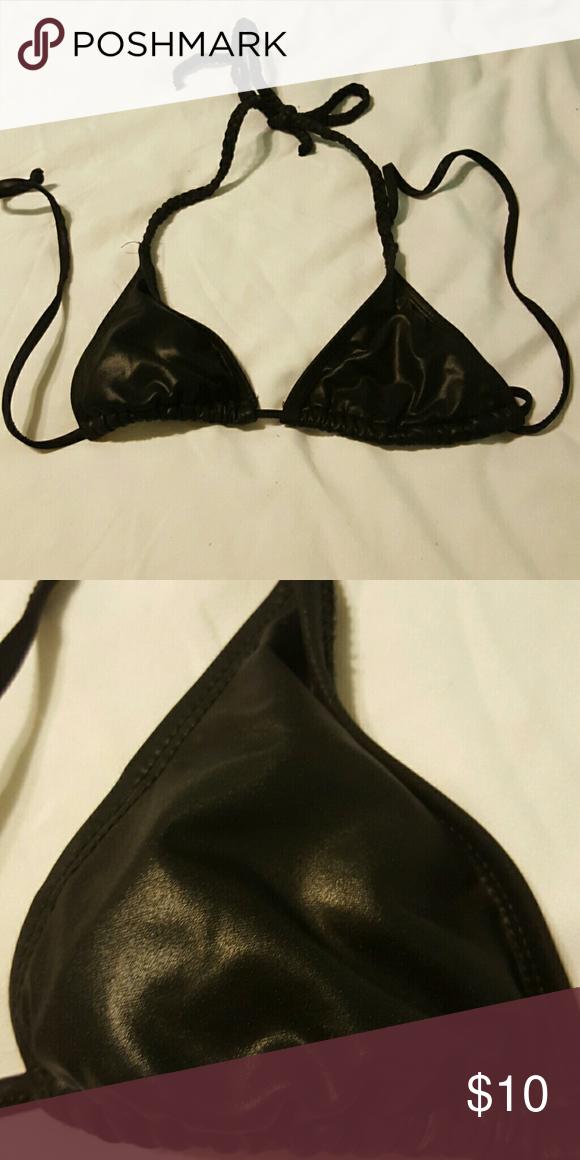 Faux leather shiny bikini top Cute Wet Seal Swim Bikinis