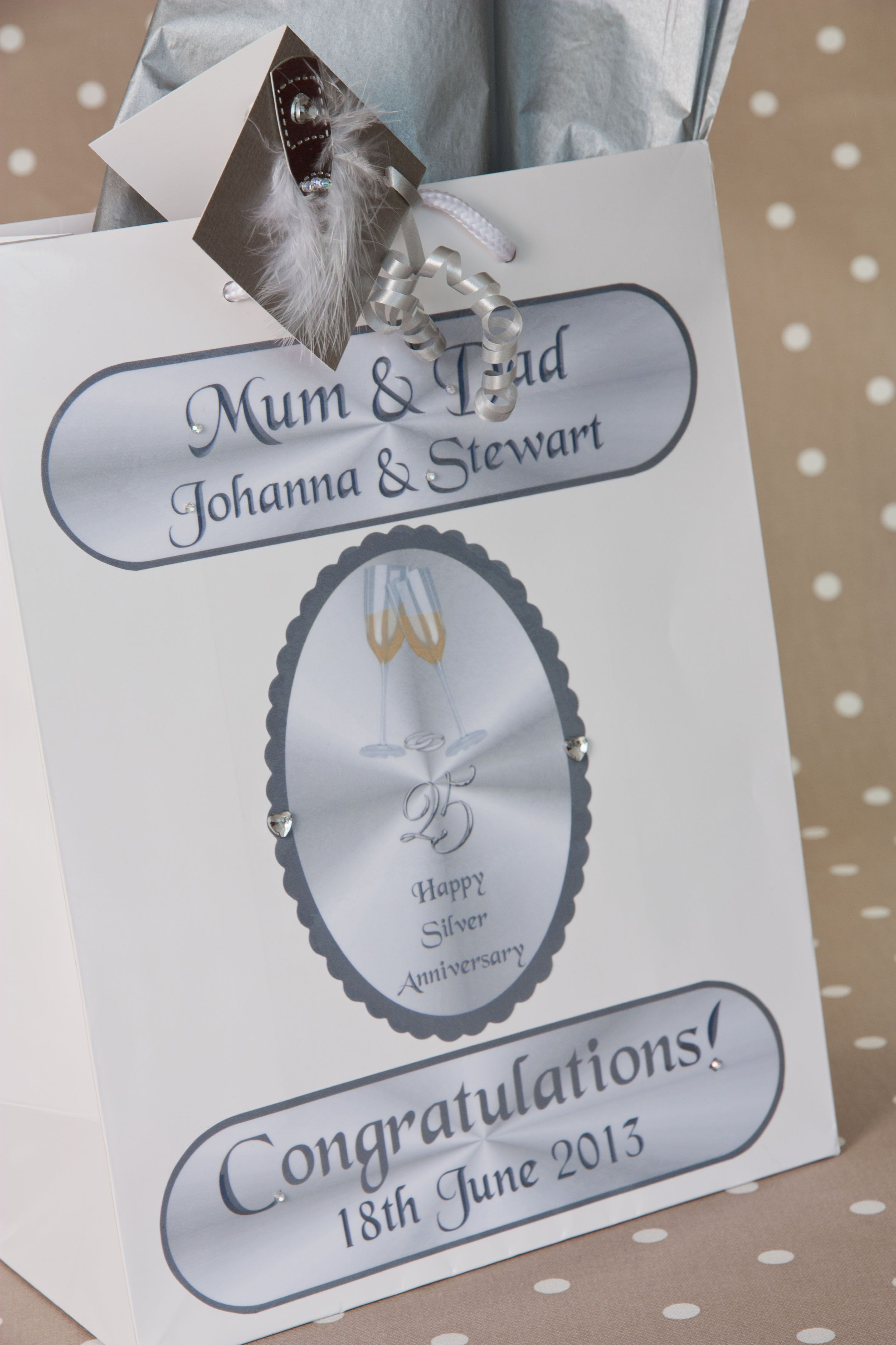 Give your Silver 25th wedding anniversary gift a special finishing ...