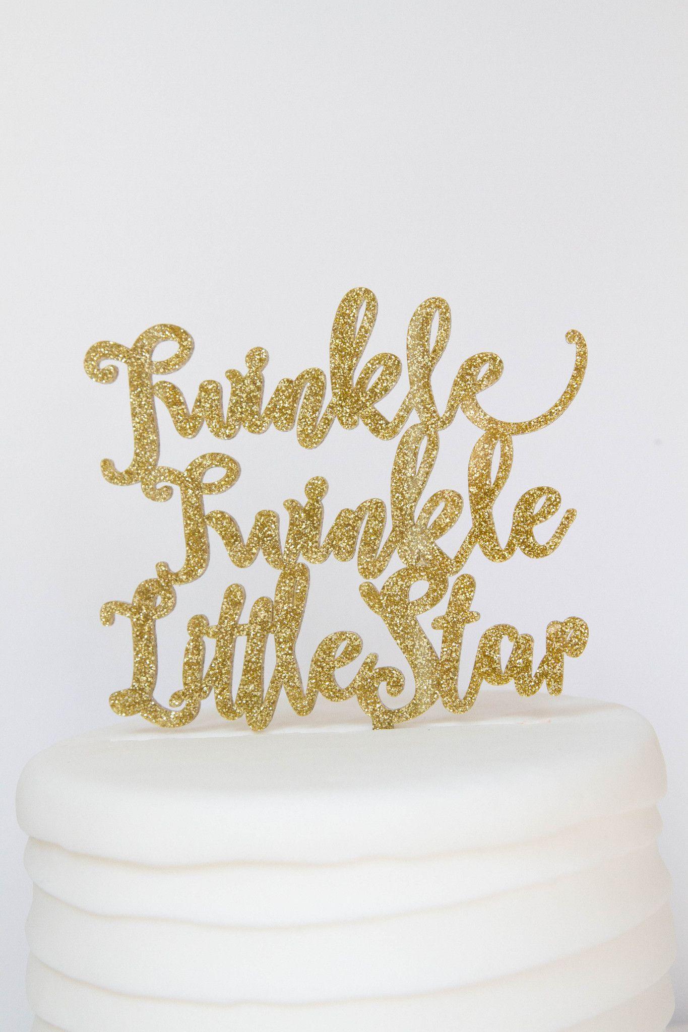 Twinkle Twinkle Little Star Baby Shower 1st Birthday Cake Topper