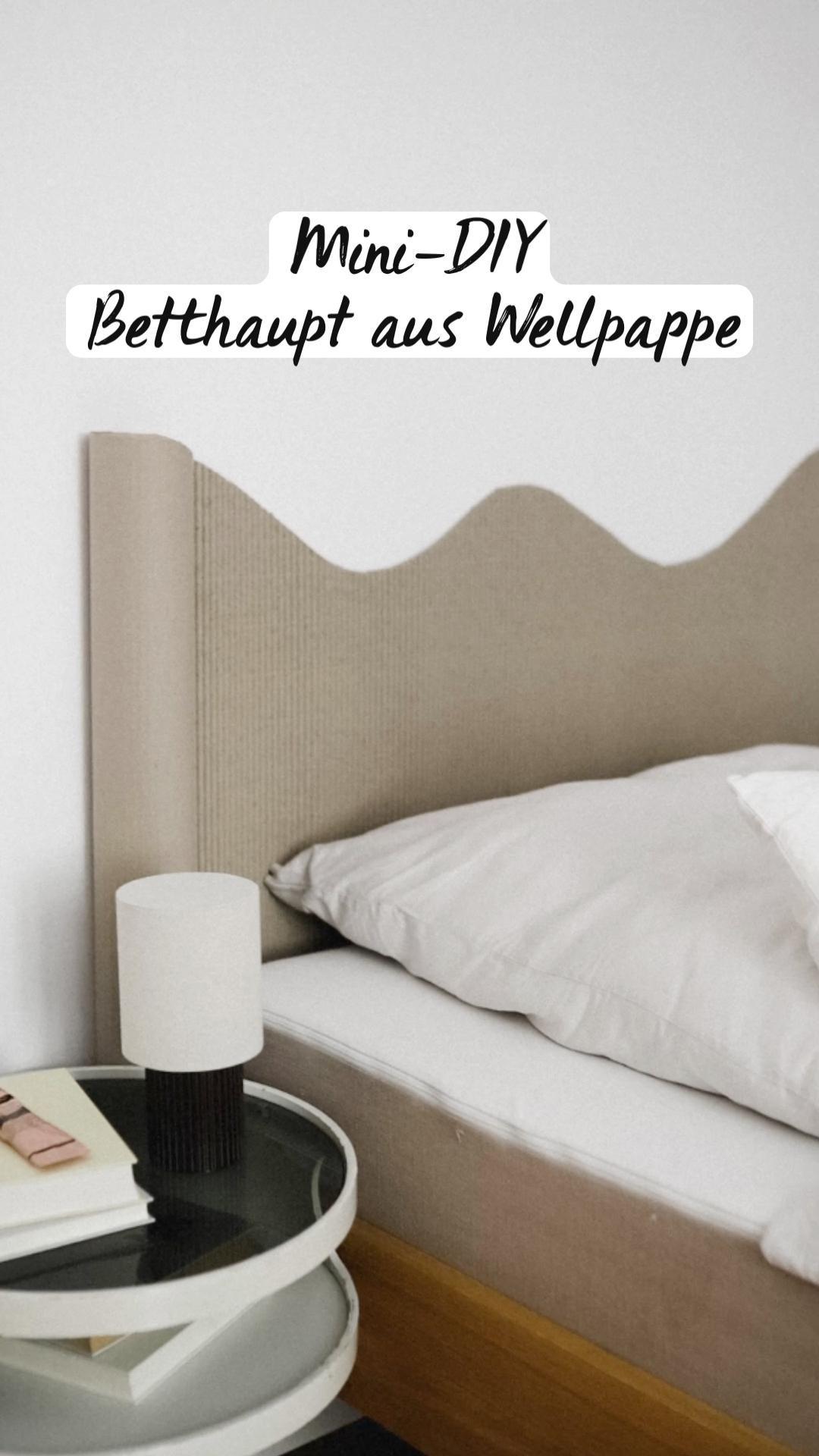 99+ Mini DIY Betthaupt aus Wellpappe