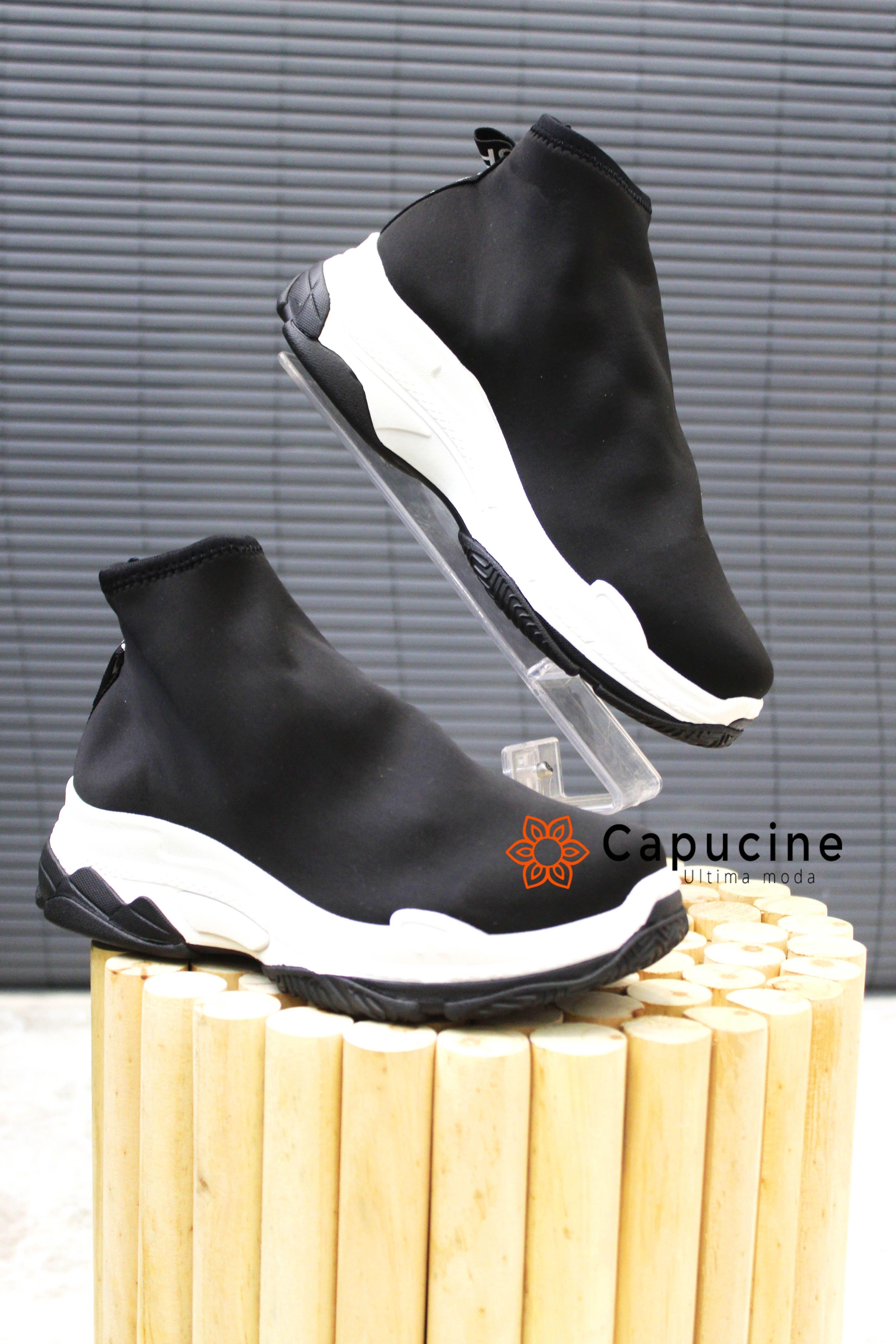 53edd36b8ee1b7 BASKET SNEAKERS FEMME - CHAUSSETTE | ALMA #capucinemoda #chaussure  #sneakers #basket #