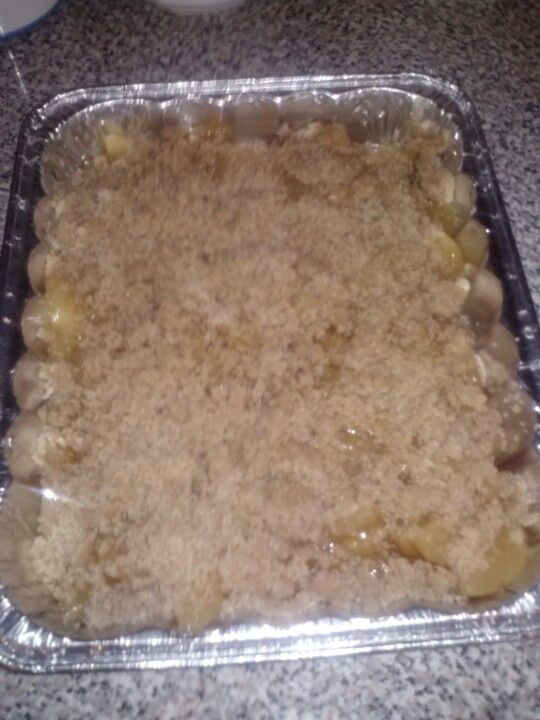 Apple crumb cobbler
