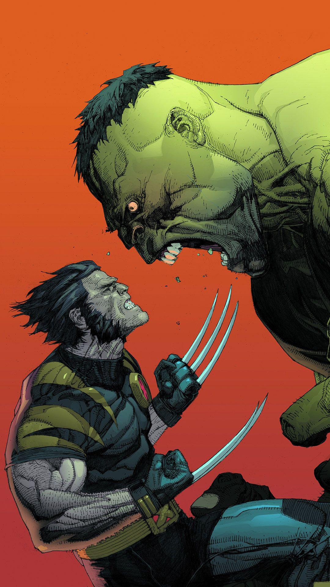 Hulk Vs Wolverine Mobile Wallpaper 20652
