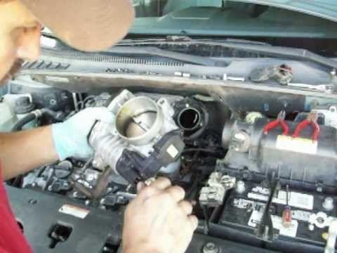 kia Sedona ESC-off & check engine light throttle body sensor