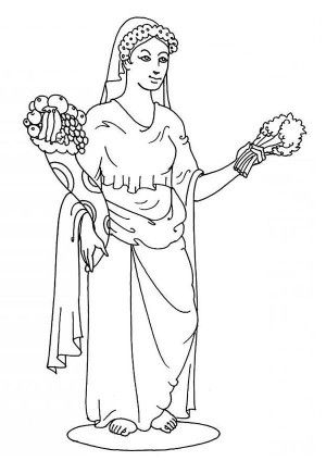 greek mythology coloring pages aphrodite granite | The Goddess Athena of Greek Mythology Coloring Page: The ...