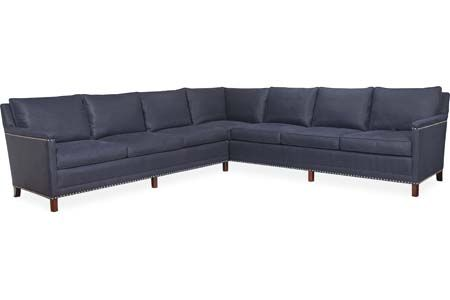 Lee Industries L1935Series Leather Sectional Series business