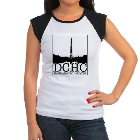 d8377ffe9641e WASHINGTON DC HARDCORE Junior s Cap Sleeve T-Shirt