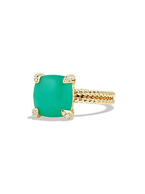 04fdab3732bb David Yurman Châtelaine Ring with Chrysoprase and Diamonds in 18K ...