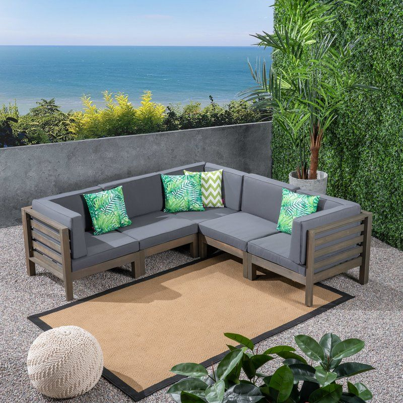Patio Sectional With Cushions Patio Sectional Sectional Patio Furniture Outdoor Sofa