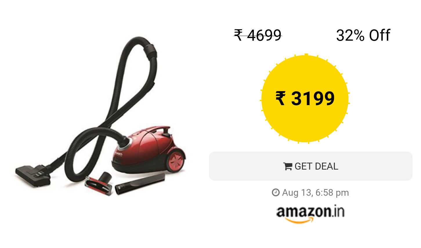 Eureka Forbes Quick Clean Dx 1200 Watt Vacuum Cleaner Red With Free Dust Bags Quick Cleaning Vacuum Cleaner Eureka