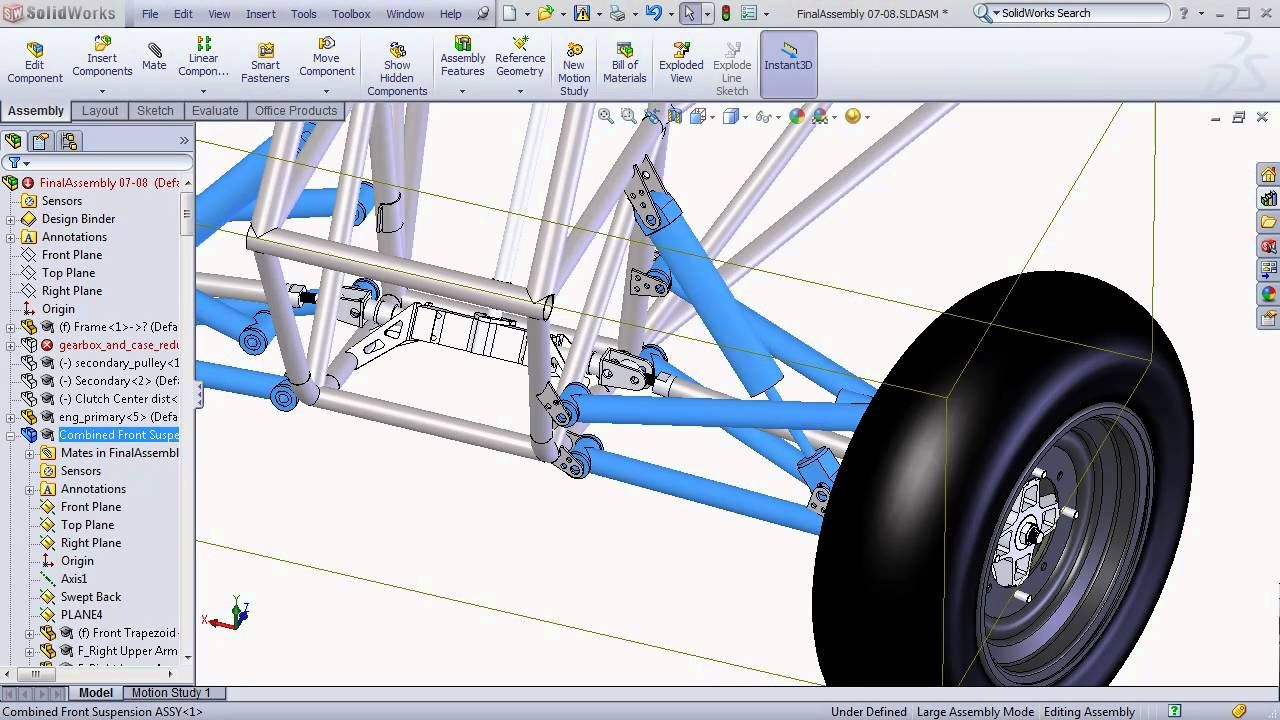 Solidworks Baja Sae Tutorials Large Assembly Tips And