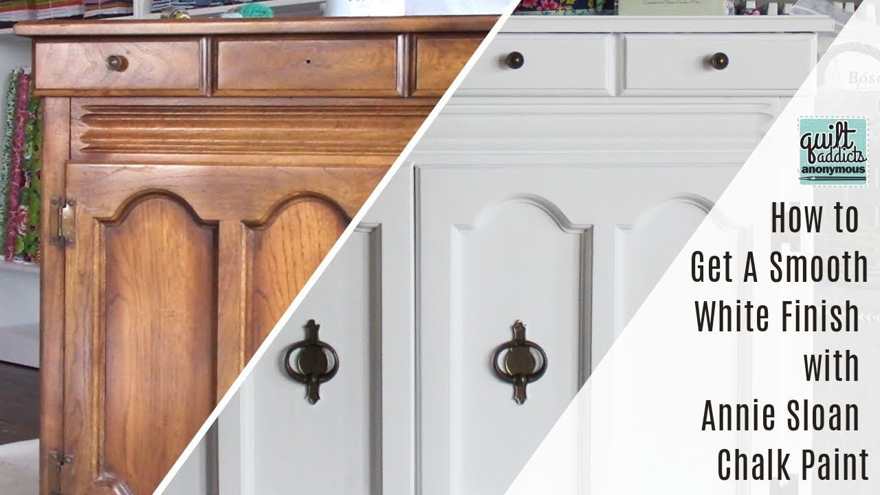 How To Get A Smooth White Finish With Annie Sloan Chalk Paint Youtube Annie Sloan Chalk Paint Chalk Paint Kitchen Chalk Paint