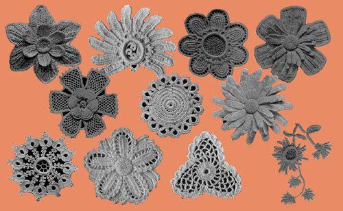 Priscilla Irish Crochet Pattern Book (2) c.1912 Butterfly & Flower ...