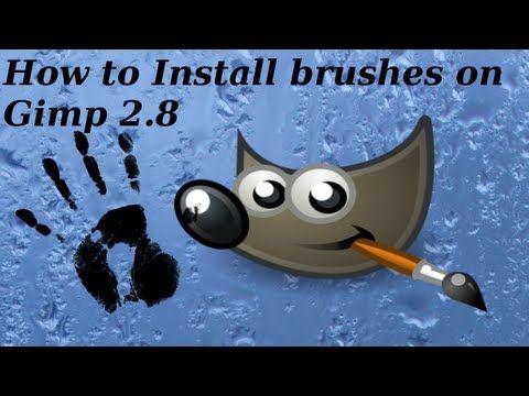 How To Install Brushes On Gimp 2 8 Gimp Brushes Gimp Tutorial Gimp Photo Editing