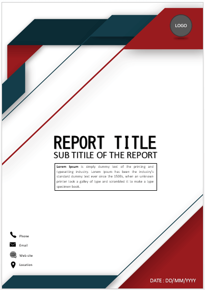 Cover Page Elegant Red Blue Cover Page Cover Pages Cover Page Template Word Cover Page Template Booklet Cover Design