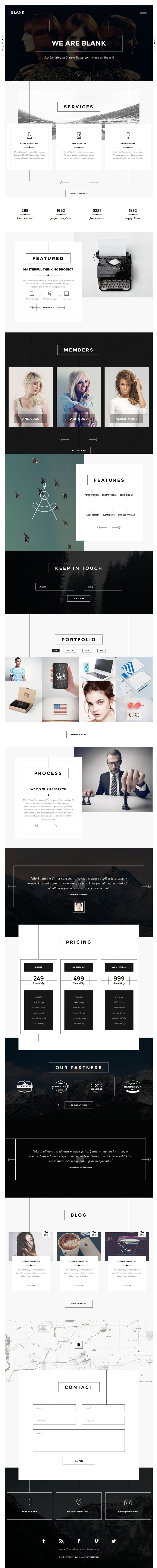 blank creative agency portfolio templates html5 business
