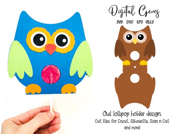 Owl Lollipop Holder Design Svg Dxf Eps Files In 2020 Holder Design Owl Design Design