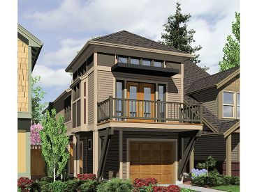 Perfect Zero Lot Line Home Plan, 034H 0159