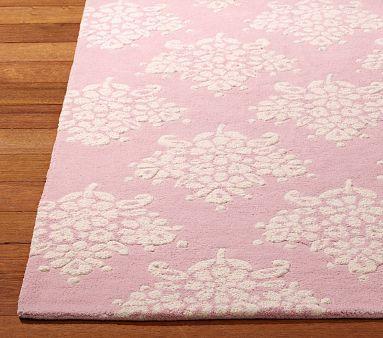 Nice Pink Rug For Princess Themed Nursery Or Toddler Room.