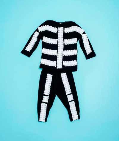 disfraz casero de halloween para niños: esqueleto muy fácil ...