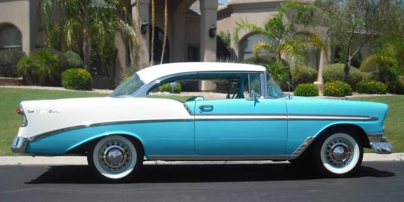 Tropical turquoise 1956 chevy bel air 2 door hardtop 39 56 for 1956 chevy belair 2 door hardtop