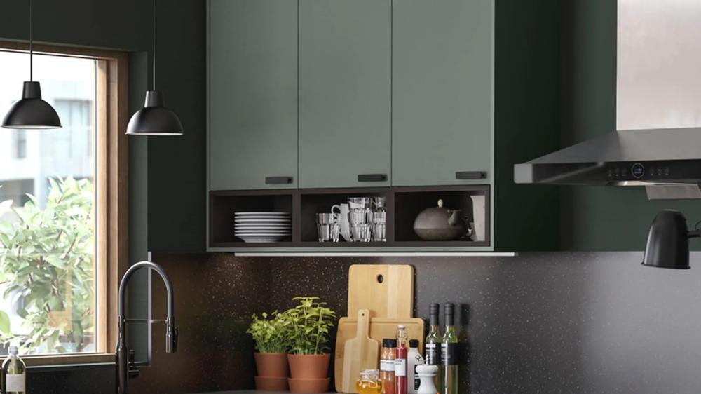 Cuisines Metod Finition Bodarp Vert Ikea Design De Cuisine Rustique Interieur De Cuisine Ikea