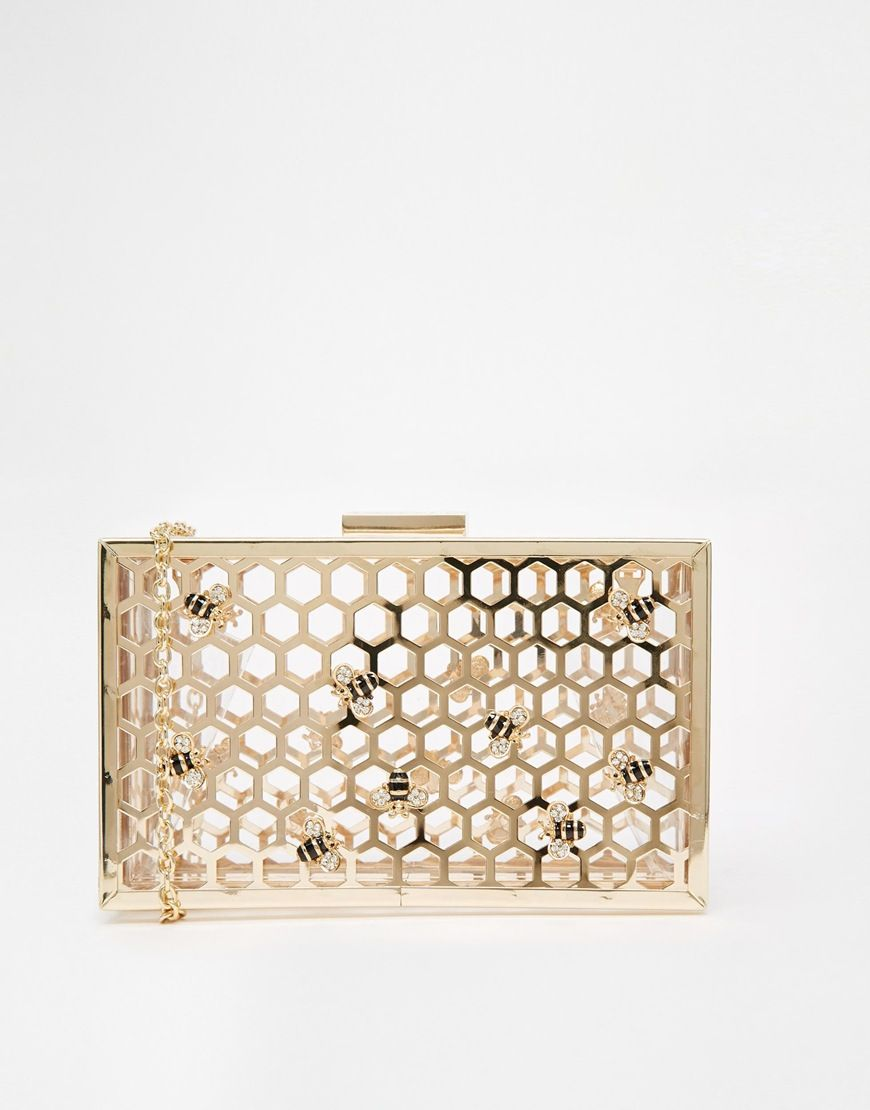 Statement Clutch - ice cream lines by VIDA VIDA