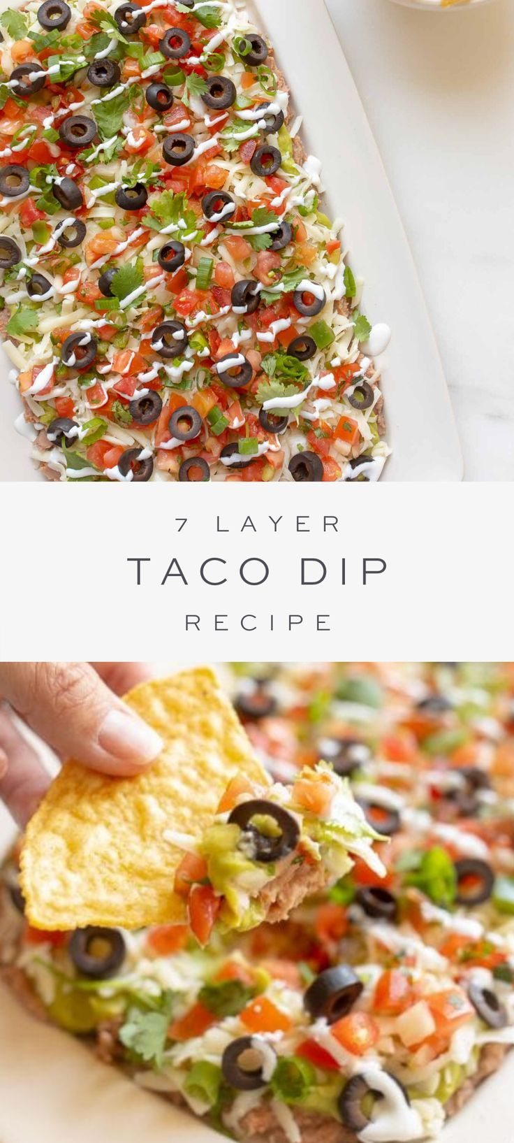 Mexican Layer Dip (7 Layer Taco Dip)