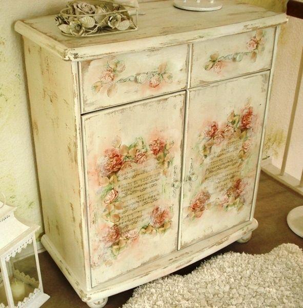 shabby chic dresser love this look haus vintage pinterest renovieren m bel. Black Bedroom Furniture Sets. Home Design Ideas