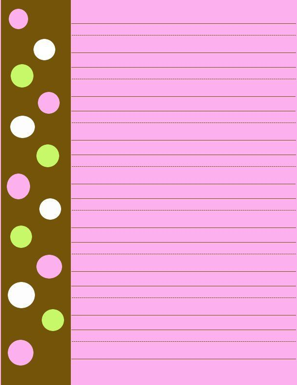 free printable dotted paper stationarybrown and pinkpolka dot - free printable lined stationary