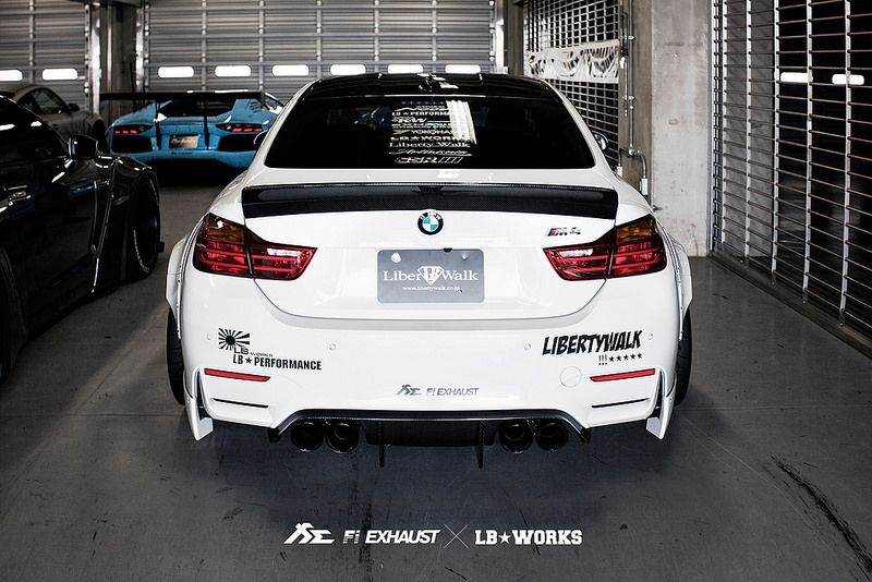 Liberty Walk BMW F82 M4 X Fi Exhaust