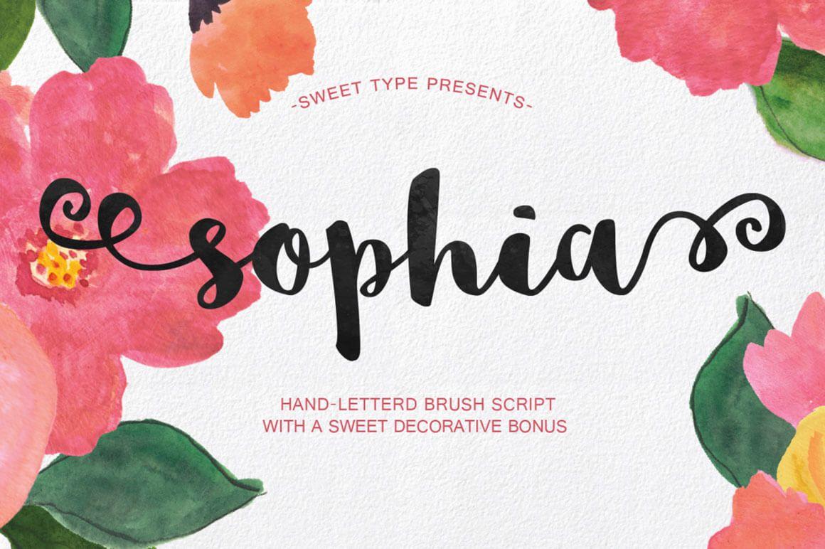 Free Download Sophia Free Handlettered Brush Script Font