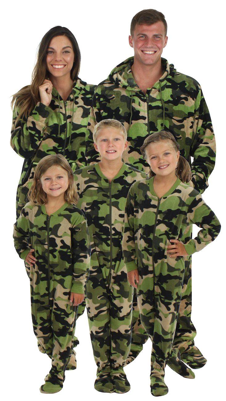 Matching Family pajamas Christmas footie pajamas, Footie