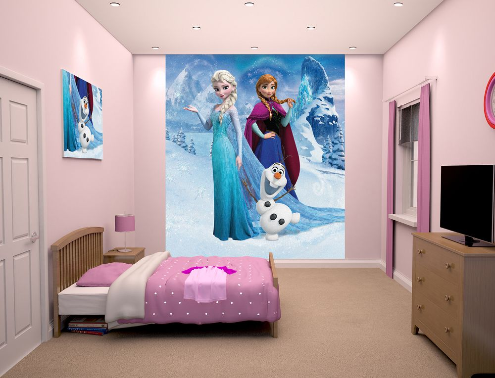 Kids Bedroom Disney Frozen Design Ideas For Age S With Flat Tv
