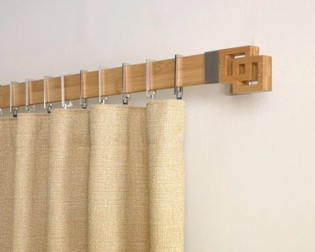 modern curtain rods design wooden