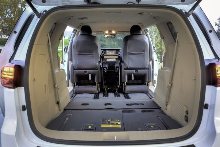 Need Cargo Space The 2016 Sedona Has Over 30 Cubic Feet With
