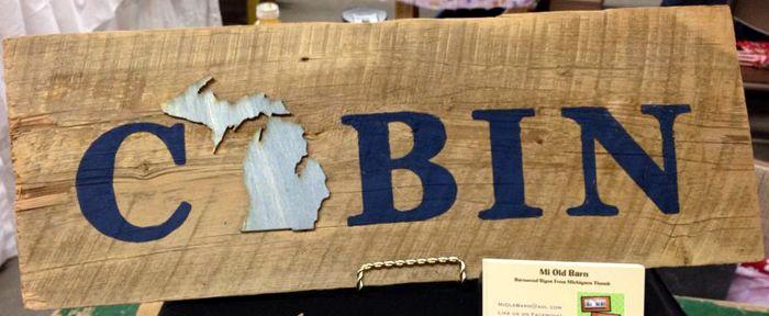 Michigan Barnwood Cabin Sign Gift Ideas Pinterest Barn Wood