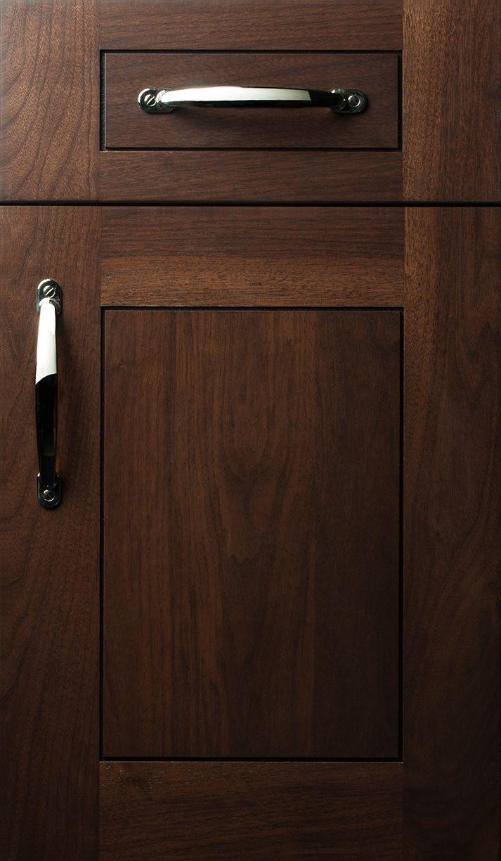 Door Styles Plain Fancy Full Overlay Walnut Cocoa Finish Kitchen Cabinet Styles Kitchen Cabinet Door Styles Cabinet Door Designs