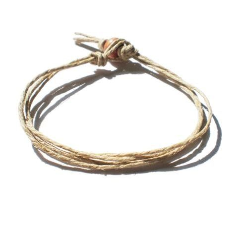 Men S Women Natural Surfer Hawaiian Style Four String Hemp Bracelet Handmade Hempnotic Jewelry 1 97 8 Inches