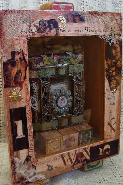 Altered Boxes and Assemblages by Diane Salter. SUCH an awesome ...